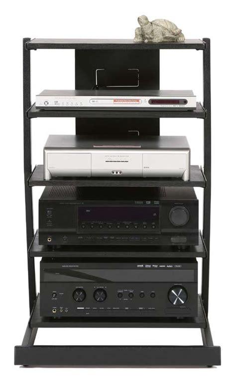Audio Rack Shelf Plateau Z Series 5 Shelf Modern Audio Rack Black Z 5ab