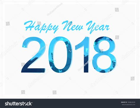 new year number 2018 happy new year numbers blue stock vector 760824535