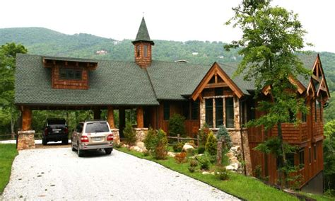 cabin style home rear view adirondack mountain house adirondack mountain