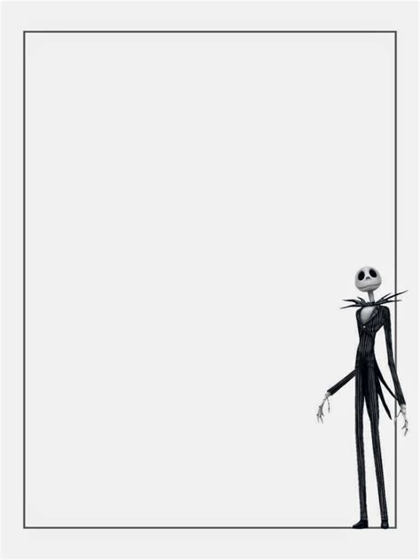 nightmare before printable template card skellington free printable notebook