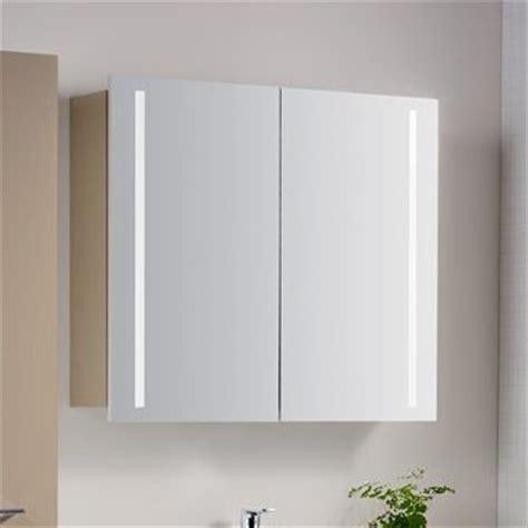 spiegelschrank 80 cm led architekt 400 spiegelschrank 80 cm mit led beleuchtung