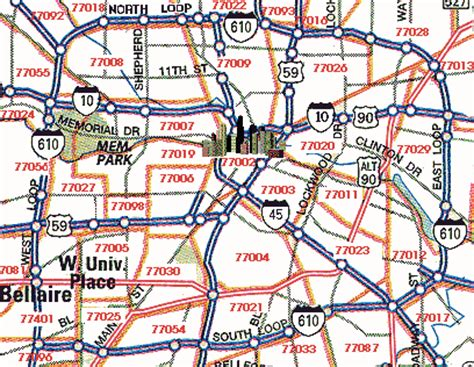 houston zip code map inner loop dentists of houston a complete listing of dentists