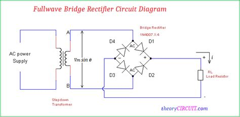 bridge rectifier circuit diagram wave bridge rectifier circuit diagram