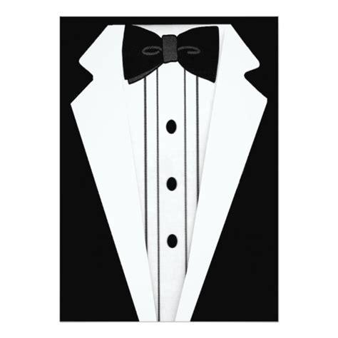 Tuxedo Template Card by Tuxedo Black Tie Event Card Zazzle Co Uk