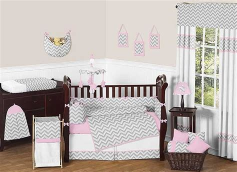 Chevron Print Crib Bedding Zig Zag Pink Gray Chevron Print Crib Bedding Set Blanket Warehouse