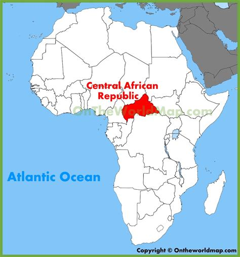 where is republic located on the map map of central republic in africa