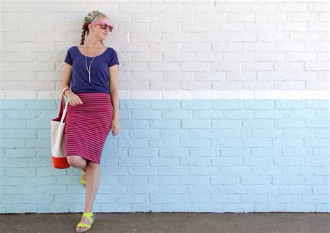 how to sew a knit pencil skirt in 20 minutes made