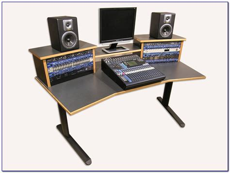 Recording Studio Workstation Desk Plans Desk Home Recording Studio Workstation Desk