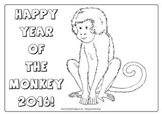 new year monkey colouring pages new year colouring pages