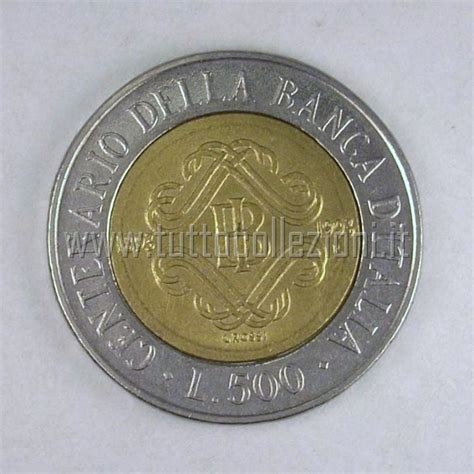 500 lire centenario d italia valore collezione di numismtica collection of coins