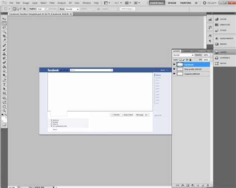 facebook timeline template for photoshop download