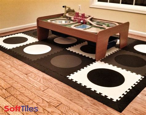 How Many Circles On Mat by Die Cut Circles Black Gray White Play Mat For Play