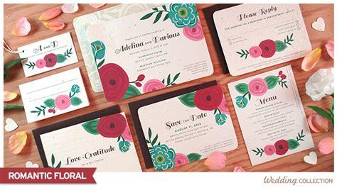 Floral Paper Wedding Invitations by Floral Catalog Botanical Paperworks