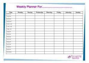 Weekly Time Planner Template Free Printable Weekly Calendar Templates Weekly Planner