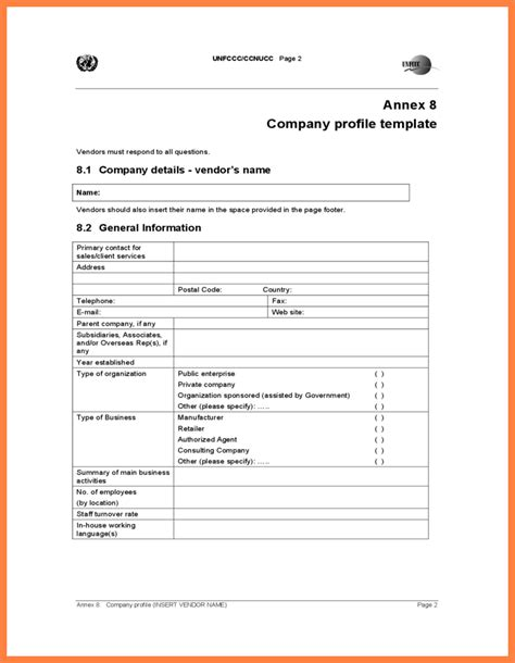 4 company profile sle download company letterhead