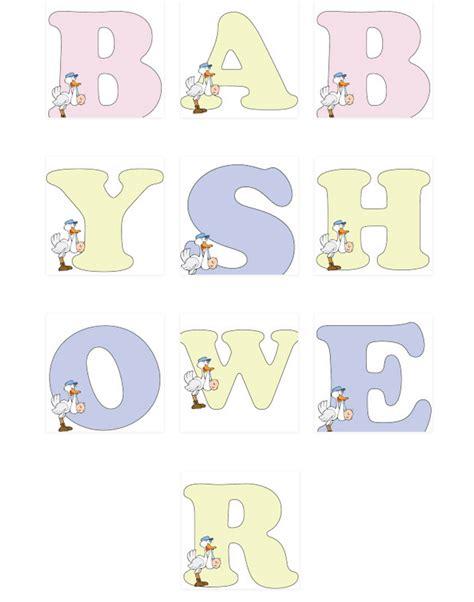 Letras De Baby Shower Para Imprimir | moldes de letras para baby shower imprimir baby shower