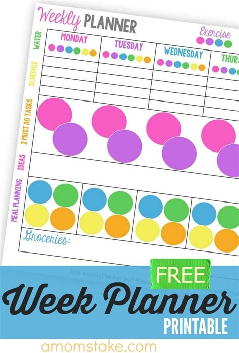printable weekly calendar for moms weekly calendar planner printable a mom s take