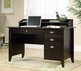 Desk Office Home Jamocha Wood Finish Modern Home Office Desk