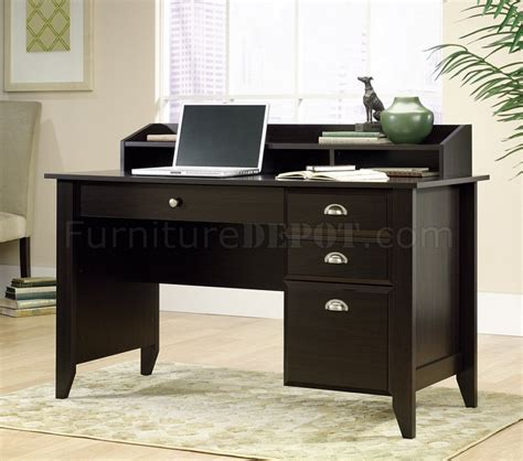 Wood Home Office Desk Jamocha Wood Finish Modern Home Office Desk