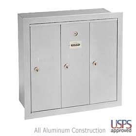 Commercial Mailboxes Apartment 3 Door Apartment Style Mailbox Locking Wall Mail Box Ebay