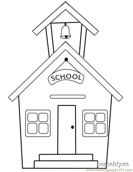 random house coloring pages sweet inspiration school house coloring pages schoolhouse