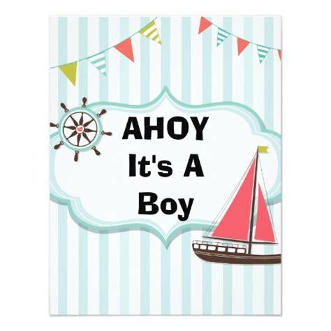 ahoy it s a boy nautical baby shower invitation zazzle