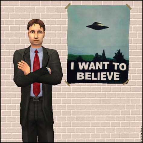 Xfiles Plakat by Mod The Sims X Files Stuff Mulder S Quot I Want To Believe