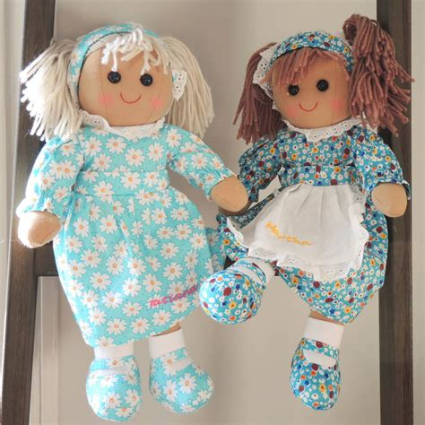 rag doll not on the high personalised martha rag doll by the alphabet gift shop
