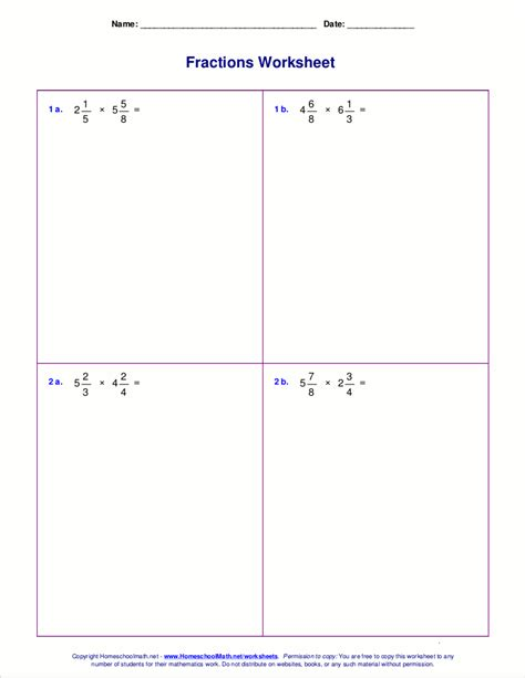 Whole Numbers Divided By Fractions Worksheet by Dividing A Whole Number By A Fraction Worksheet Worksheets