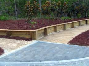 wood bench design how to build wood retaining wall
