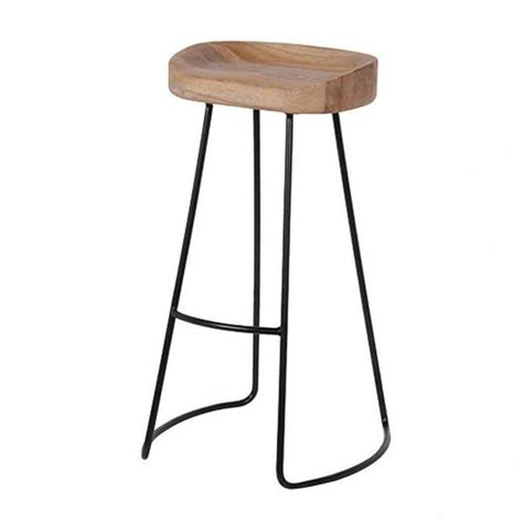 Industrial Metal Bar Stool Stools Industrial Bar Stool Re Engineered Metal With Weathered Oak Seat