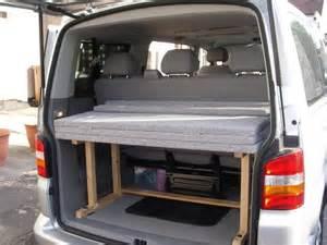 Bed Frames Rockhton Bed In Shuttle Caravelle Home Made Vw T4 Forum Vw