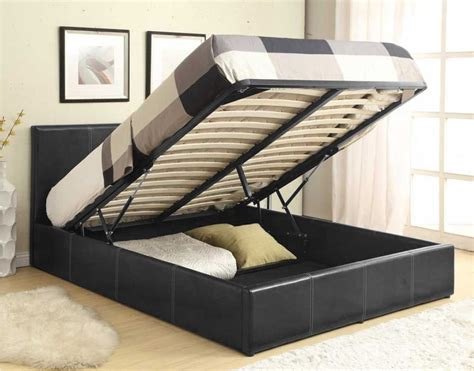 ottoman double bed with mattress luxan ottoman black 4 6 double bed with mattress