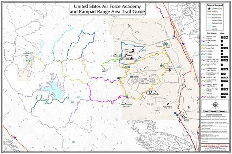 usafa map trails air academy isportsman