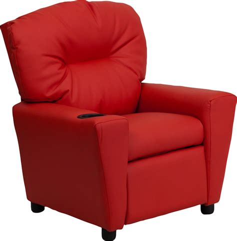 Vinyl Recliners by Vinyl Recliner With Cup Holder