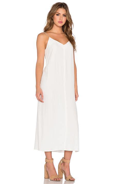 Celina Dress lyst american vintage celina tank dress in white