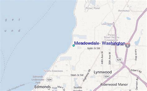 Edmonds Tide Table by Meadowdale Washington Tide Station Location Guide