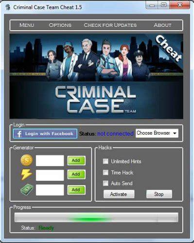 download game criminal case mod cheat criminal case hack cheats trainer tool free download