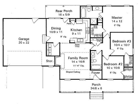 ranch bungalow floor plans plan 030h 0003 find unique house plans home plans and