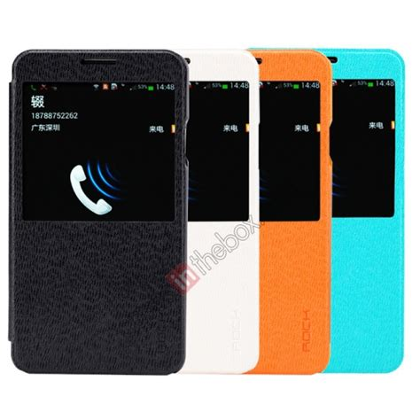 Samsung Galaxy Note 3 Rock Excel Leather rock excel series ultra thin flip leather for samsung