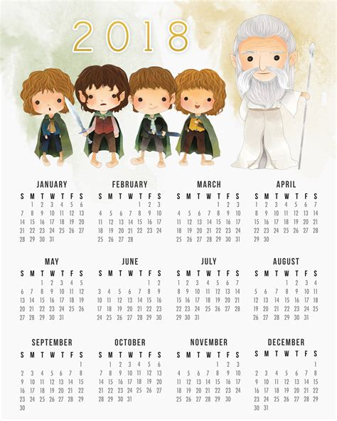 libro 2017 carmine mini day at a time free printable 2018 lord of the rings calendar the cottage market