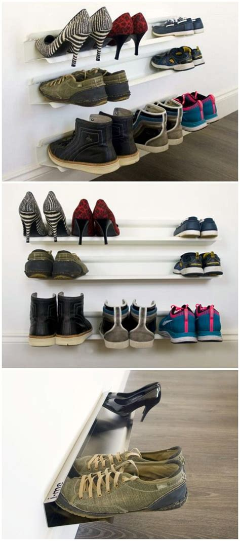 clever shoe storage solutions the horizontal shoe rack is a clever shoe storage solution