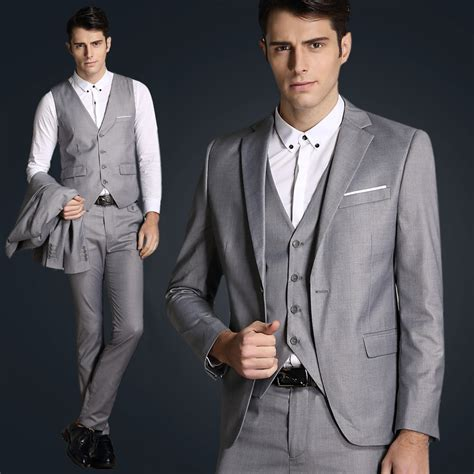 Jas Kingsman italian luxury mens grey suits jacket formal dress