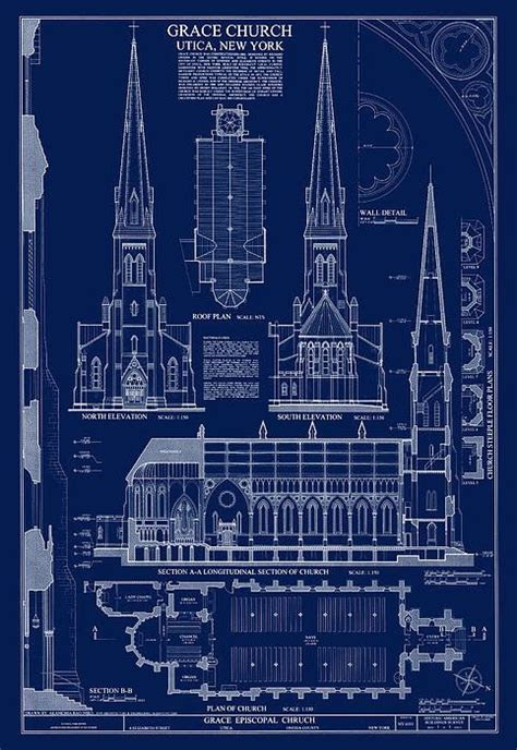 blueprints of buildings church daniel o connell and products on pinterest