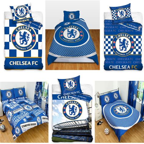 Chelsea Set Seprei Cover Azni official chelsea football bedding duvet cover sets boys