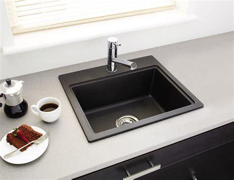 rok kitchen sinks astracast monza rok metallic volcano black inset sink 1