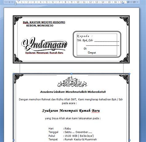 koleksi undangan format word markas dunia