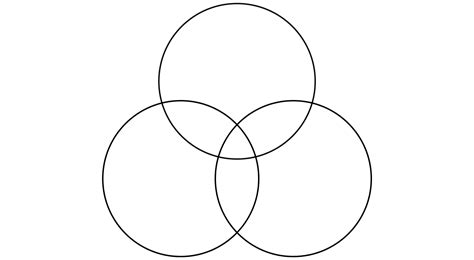 three ring venn diagram template three line template