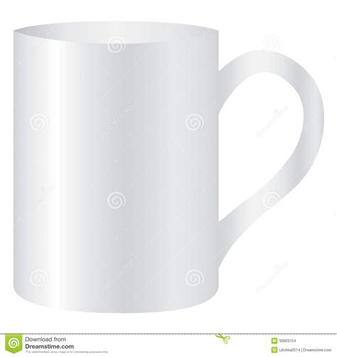 Mug Single Empty white mug empty blank for coffee or tea stock images