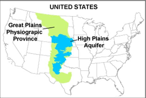 great plains texas map usgs high plains aquifer wlms physical cultural setting